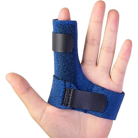 LIOOBO 2pcs Finger Splint Arthritis Thumb Splint Finger Brace Support Guard Splints for Straightening Fingers Joint Protection Black M