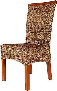 Rotin Design REBAJAS : -66% Silla de ratan de comedor Malibu marron, moderna y barata