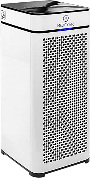 Medify MA 40 Home Medical Grade H13 True HEPA For 800 Sq Ft Air Purifier 99 97 Removal With Particle Sensor And Modern Design White