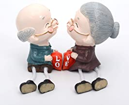 Store2508® Cute Romantic Old Couple Grandparents Hanging Legs Showpiece Dolls (Pair) for Home Décor. Very Nice Gift Item