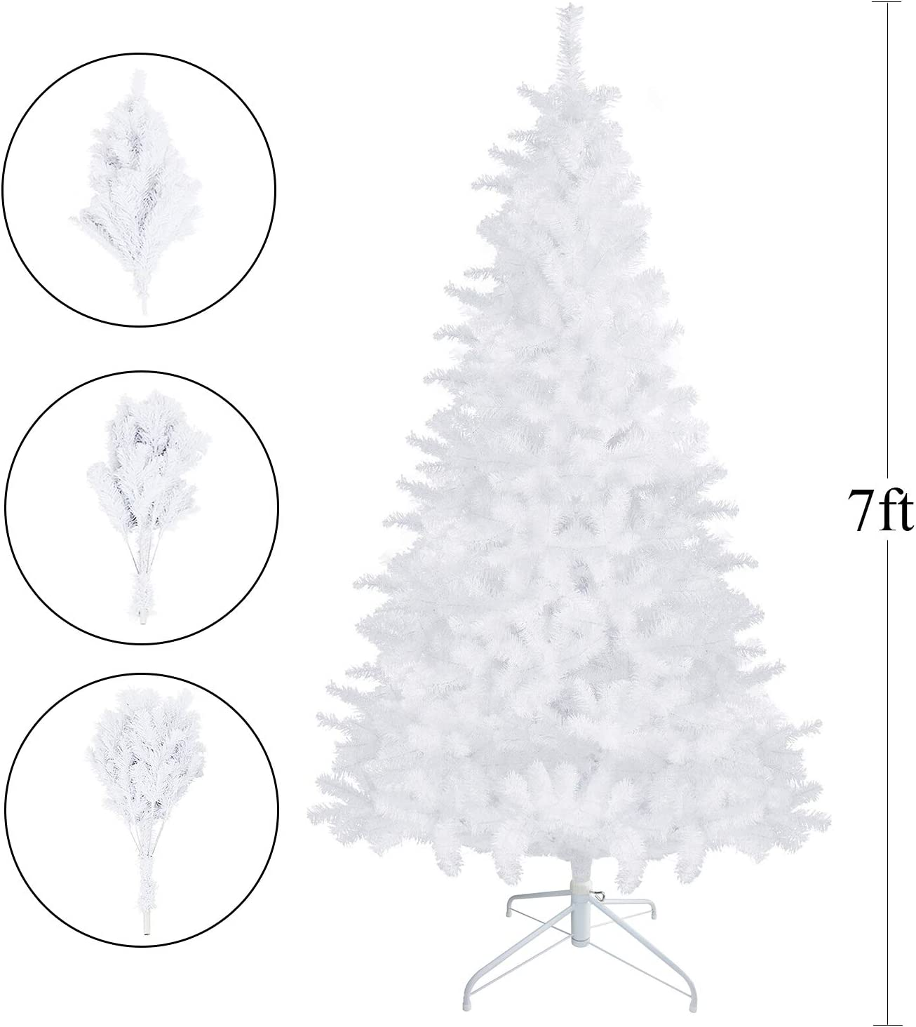 5ft, Green FunkyBuys Colorado Christmas Tree Artificial Xmas Spruce Decoration With Metal Stand