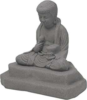 """EMSCO Group Meditating Buddha Statue – Natural Granite Appearance – Made of Resin – Lightweight – 24"""" Height"""