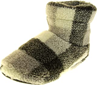 Dunlop Mens Warm Faux Fur Lined House Slipper Boots
