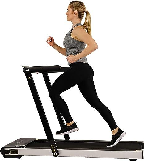 Sunny Health & Fitness   Asuna Premium Slim Folding Treadmill with Speakers