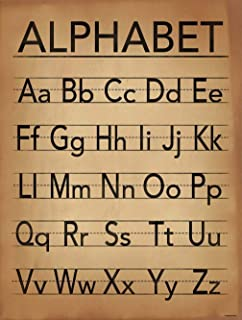 Alphabet Print Writing and Grammar Poster. Fine Art Paper, Laminated, or Framed. Multiple Sizes Available for Home, Office, or School.