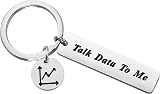 Lywjyb Birdgot Data Gifts Data Scientist Gifts Statistics Analyst Gifts Computer Science Gift Talk Data to Me Keychain Funny Programmer Gifts
