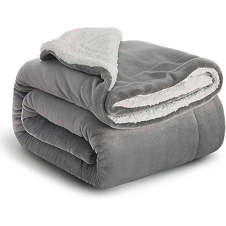 warm Couchdecke im Winter Reisedecke f/ür Erwachsene und Kinder-Wohndecke Blau Zweiseitige Sofadecke Superweicher Kunstfelldecke Elegear Kuscheldecke 130x150