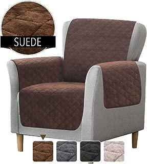 Rose Home Fashion RHF Faux Suede Chair Cover, Chair Cover for Dogs, Pet Cover for Chair, Chair Slipcover, Chair Protector, Chair Covers, Slipcover for Chair (Chair: Chocolate)