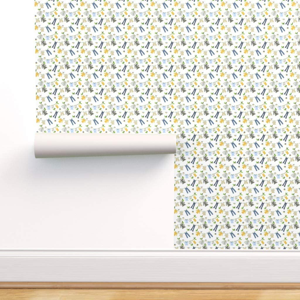 Removable Water-Activated Wallpaper - Leaves service Birds Fixed price for sale Conne Laundry