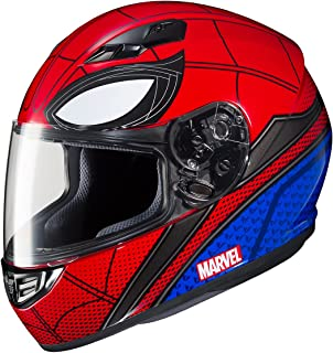 HJC Unisex-Adult Full-face-Helmet-Style CS-R3 Spiderman Homecoming (Mic-1 Red/Blue, Medium)