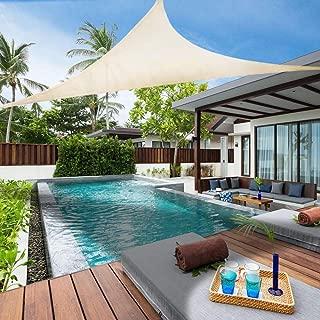 Lehood 12' x 12' x 12' Right Triangle Sun Shade Sail, UV Block Shade Sail Canopy for Patio Outdoor Garden, Ivory