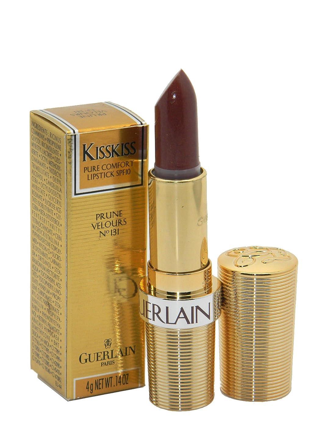 薄汚い苦味サイドボードGuerlain Lipstick Kisskiss Prune Velours No.131(ゲラン キスキス リップスティック プルーンベロア No.131) [並行輸入品]