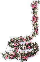 Miracliy 5 Pack 41 FT Fake Rose Vine Flowers Plants Artificial Flower Hanging Rose Ivy..