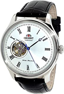 ORIENT Classic Automatic with Hand Winding Open Heart Dome Crystal Roman FAG00003W