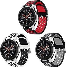Sycreek Compatibile per Samsung Gear S3 Cinturino 22mm Cinturino in Silicone Bicolore Cinturino di Ricambio per Galaxy Watch 46mm/Gear S3 Frontier/Gear S3 Classic