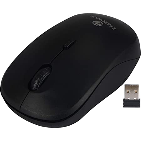 (Renewed) Zebronics Zeb-Bold 2.4GHz Wireless Optical Mouse with High Precision