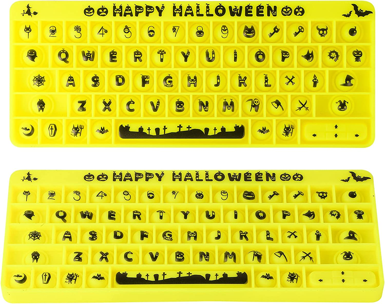 MEIEST Halloween Max 43% safety OFF Big Size Pop Fidget Sensory Toy Silicone Bubble
