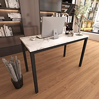 Tilly Lin Faux Marble Writing Desk Computer Desk, Home Office Table, Sturdy and Elegant, 47.2