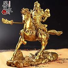 EBERMA Adornment,风水 Feng Shui Furnishing Articles 关公摆件纯铜关公像财神供奉大号简约家居办公室开业工艺品