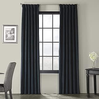 Half Price Drapes VPCH-194023-120 Signature Blackout Velvet Curtain, Midnight Blue, 50 X 120