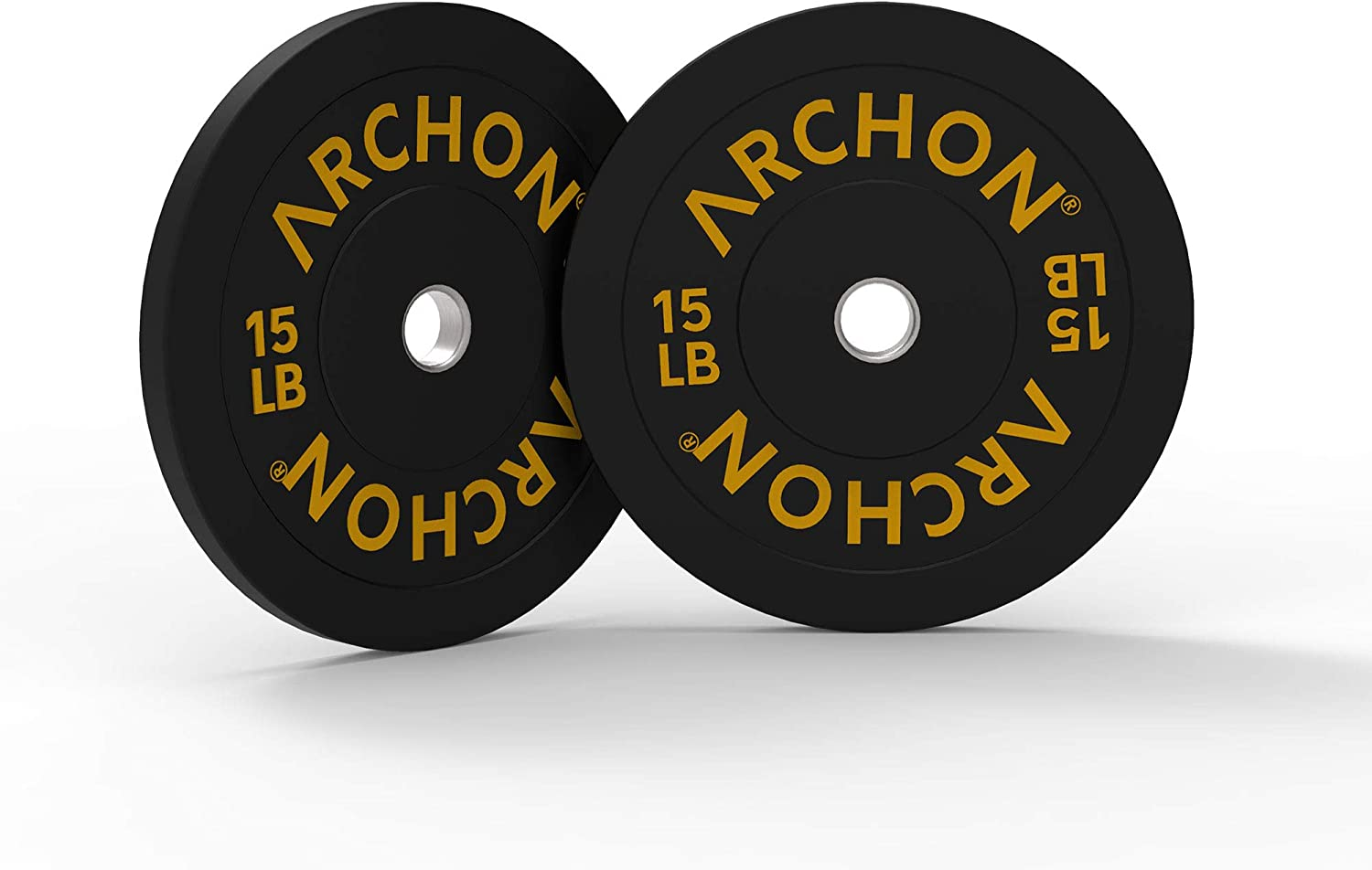 New Weight Set Hi-Temp 5 #  x 2 = 10 lbs Olympic Rubber Bumper Plates pounds