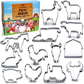 Farm Cookie Cutter Set, 13 Piece Set, Stainless Steel