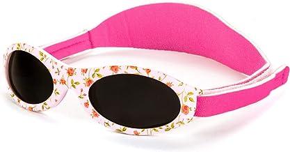 Koolsun Flex Aqua Grey Lunettes de soleil pour enfant 3-6 ans Protection UV avec bandeau amovible et syst/ème optique Clas 1 Cat 3 bandes flexibles et sans bulles.