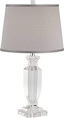 35b40ef75ff8 Alessa Crystal Table Lamp with Gray Shade - - Amazon.com