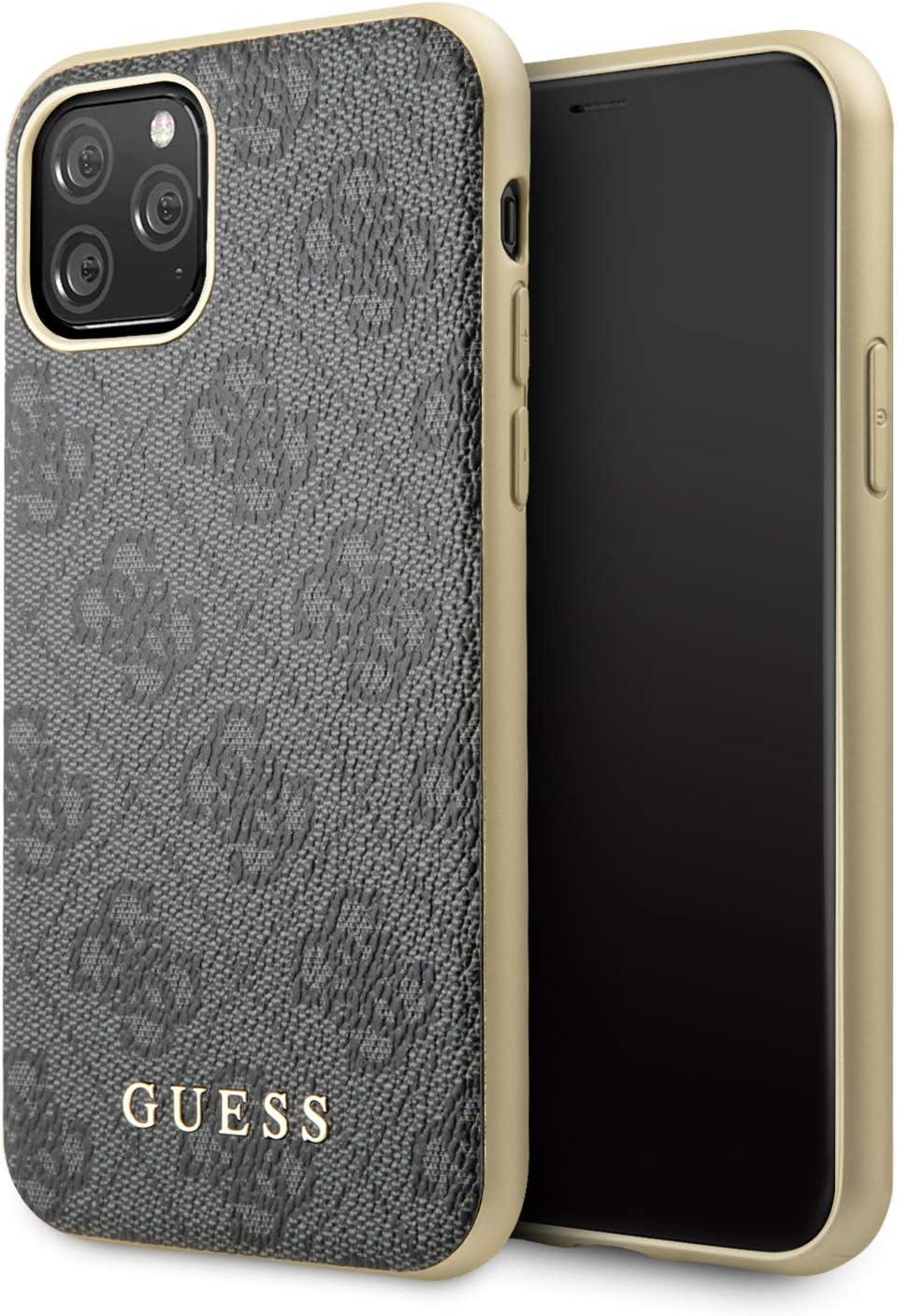 Funda Guess de la colección 4G GUHCN58G4GG para iPhone 11 Pro, Color Gris