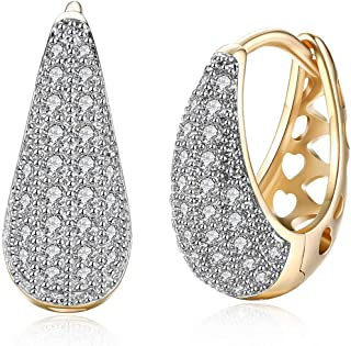 Sukkhi Crystals From Swarovski Brass Yellow Gold Hoops Gold Plated Earring for Women and Girls
