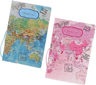 Baosity 2x Passport/Credit Card Protective Cover Holder Pink+Blue Travel Accessory