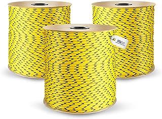 DQ-PP POLYPROPYLENSEIL | 16mm | 20m | GELB Polypropylen Seil | Tauwerk PP Flechtleine Textilseil Reepschnur Leine Schnur Festmacher Rope Kordel Kunststoffseil Kletterseil geflochten