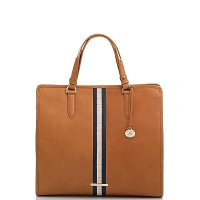 Brahmin Tia Meri Tote (Tan) Handbags
