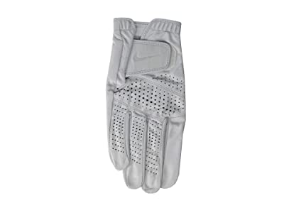 Nike Tour Classic II Regular Right Hand Golf Gloves (Pearl White/Pearl White/Silver) Over-Mits Gloves
