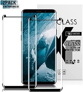 Gozhu [2-Pack] Galaxy S9 Screen Protector Tempered Glass,[Anti-Fingerprint][No-Bubble][Scratch-Resistant] Glass Screen Protector for Samsung Galaxy S9