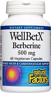WellBetX Berberine 500 mg by Natural Factors, 60 Vegetarian Capsules (60 Servings)