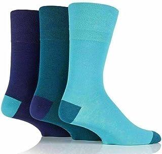 DreamzFit - 6 Pairs of Men's Bigfoot Gentle Grip with Honeycomb Top Cotton Rich Socks | Men Casual Work Non Elastic Colour...