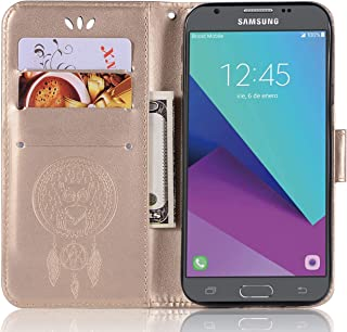 Samsung Galaxy J3 Pro (2017) Leather Case, Galaxy J3 Pro (2017) Wallet Case, PU Leather Embossed Floral Flip Case with Credit Card Holder for 5.0'' Samsung Galaxy J3 Pro (2017)