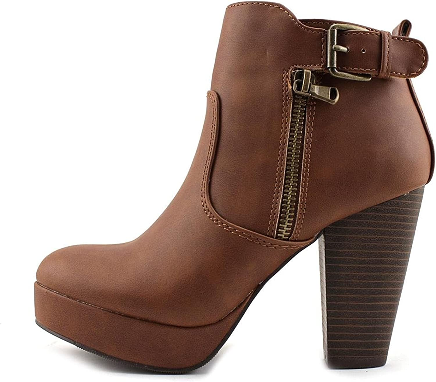 Material Girl Womens Raelyn Round Toe Ankle Fashion Boots