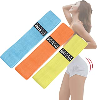WNIEYO Exercise Bands, Booty Bands Fabric Resistance Bands for Legs and Butt Workout Bands for Women Men Yoga, Squats, Dea...