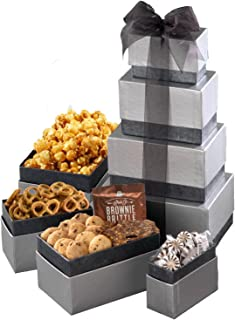 Broadway Basketeers Corporate Gift Basket with Assorted sweets, cookies and gourmet popcorn