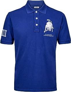 M POLOSHIRT Automobili Lamborghini Sportscar Le Mans Italy Flag Blue Polo NEW