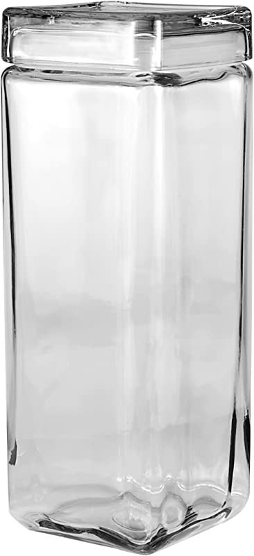 Anchor Hocking 2 3 Liters Stackable Jars With Glass Lids Set Of 2
