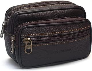 Small Men's Leather Waist Wallet Cigarette Case Coin Purse Belt Loops Waist Bag