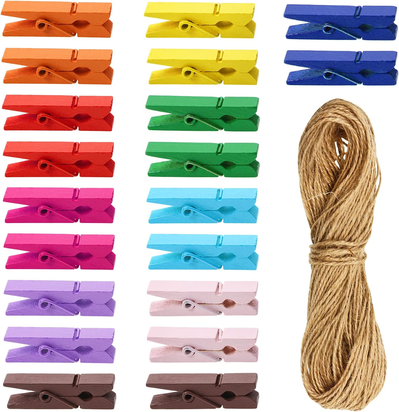 Penta Angel 120PCS Our Max 65% OFF shop most popular Mini Bright Spring Wooden Colored Clo Natural