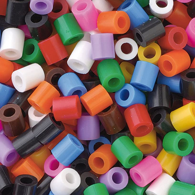 Nabbi Jumbo Melting Beads, Plastic, Basic Colours, 2400-Piece