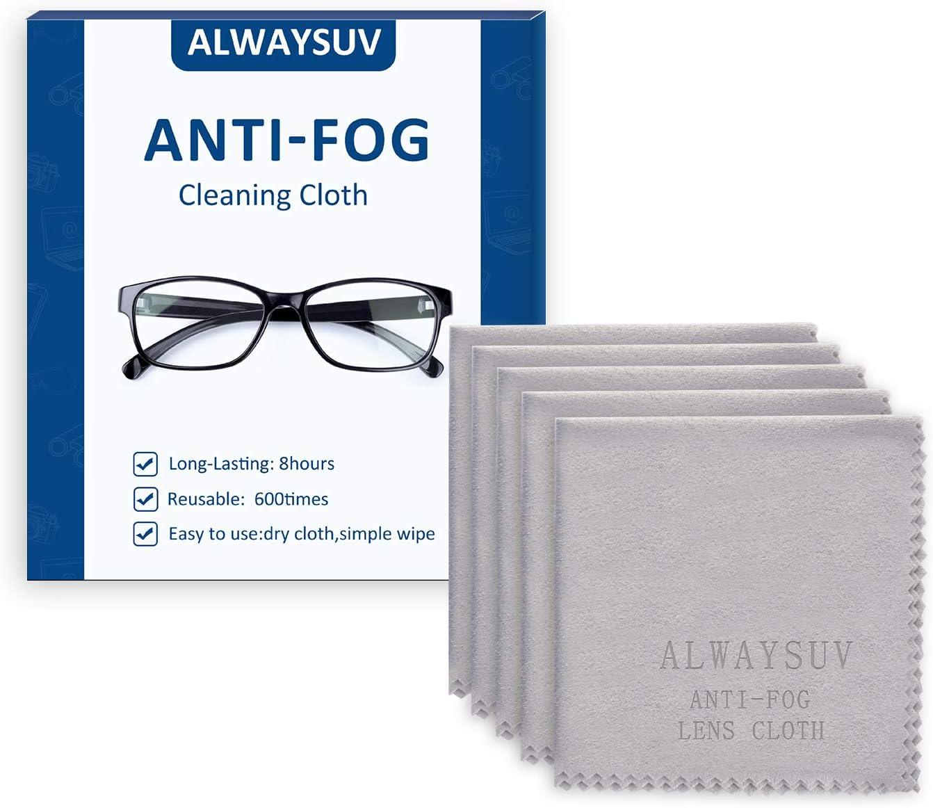 Alwaysuv Alwaysuv 5 Pack Mikrofaser Antibeschlag Reinigungstuch Für Brillengläser Telefone Bildschirme Kamera Wiederverwendbare Reinigungstücher 5new Drogerie Körperpflege
