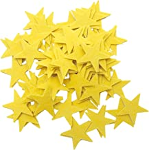 Playfully Ever After 1.5 Inch Yellow 85 pc Felt Star Stickers
