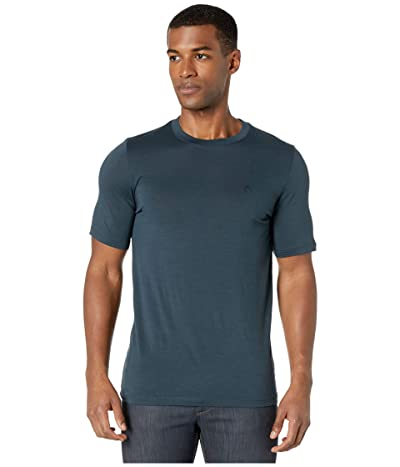 Fjallraven Abisko Wool Short Sleeve (Dark Navy) Men
