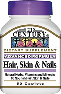 21st Century Hair, Skin & Nails - 50 Caplets, Pack of 3